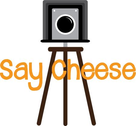 say cheese: Strike a pose or say cheese!  This design is great on t-shirts, sweatshirts, totes and more for your photography enthusiasts!