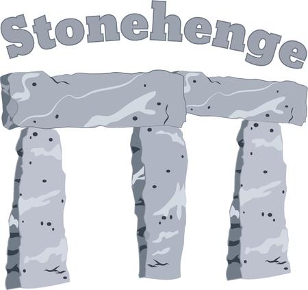 standing stone: Show pride for your favorite monument and make a great keepsake with this design on t-shirts, jackets, sweatshirts, hats and more! Illustration