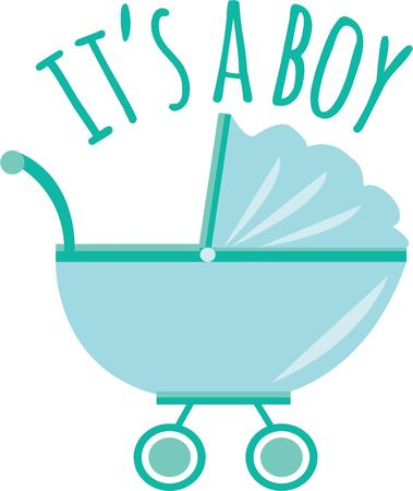 Celebrate the new arrival with this design on baby shower decorations, favors and more!