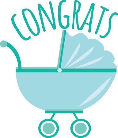 Vier de nieuwe aankomst met dit ontwerp op baby shower decoraties, gunsten en meer!