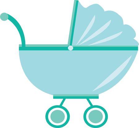 Vier de nieuwe aankomst met dit ontwerp op baby shower decoraties, gunsten en nog veel meer! Stock Illustratie