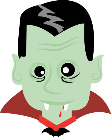 Use this vampire for a childs spooky Halloween shirt.