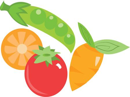 foodies: Use these vegetables for a foodies fun kitchen apron.