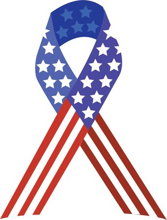 Use this patriotic ribbon to support our vets on shirts and bags. Stok Fotoğraf - 42758306