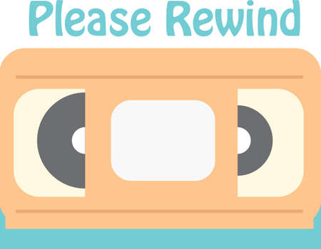 Use this video tape for a retro friend's t-shirt. Иллюстрация