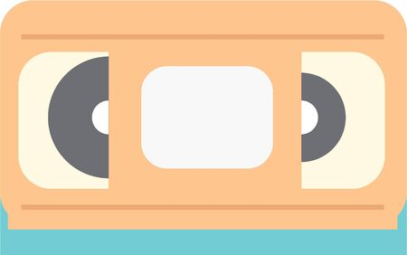 Use this video tape for a retro friends t-shirt. Иллюстрация