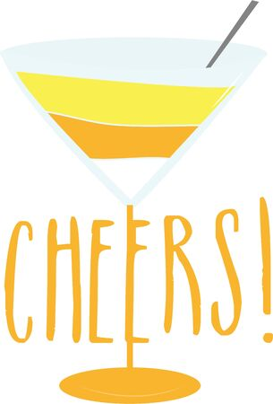 Use this candy corn martini for an adult Halloween shirt.