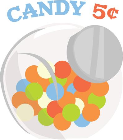 Use this fun candy design for a candy jar cover.