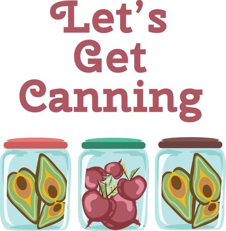 avocados: Use these jars for a fun canning linen. Illustration