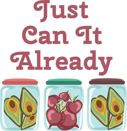 Use these jars for a fun canning linen. Illustration