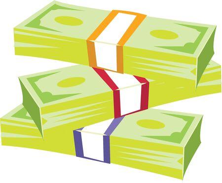 stack of cash: Utilice esta pila de dinero en efectivo para un monedero o cartera para un joven derrochador.