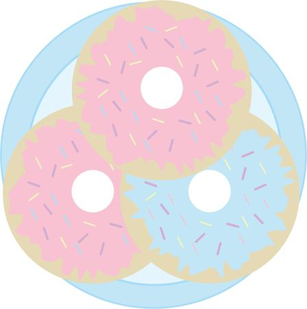 Use these donuts for an apron for your favorite donut maker.