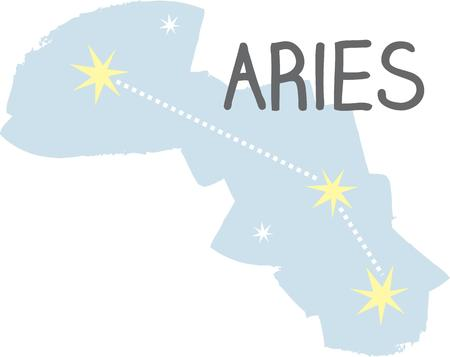superstitious: Use this Aries constellation for a superstitious friends bag or jacket.