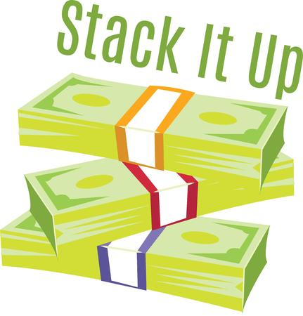Use this stack of cash for a change purse or wallet for a young spender.