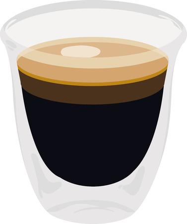 Use this espresso shot for a baristas shirt or apron.