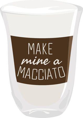 Use this macchiato shot for a baristas shirt or apron. Ilustracja
