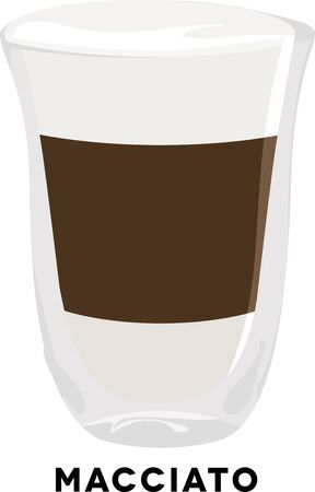 arabica: Use this macchiato shot for a baristas shirt or apron. Illustration