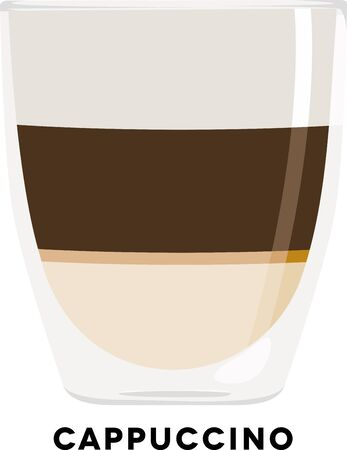 Use this cappuccino shot for a baristas shirt or apron. Ilustracja