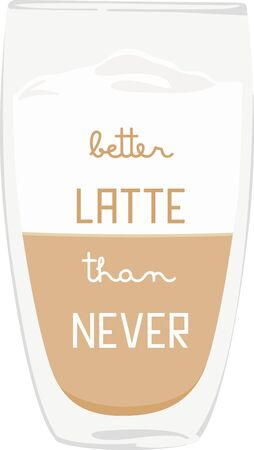 shot glass: Use this latte drink for a baristas shirt or apron. Illustration