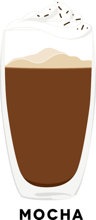 Use this mocha for a baristas shirt or apron.