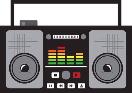 Display your love for retro music with this boombox on a shirt or jacket.