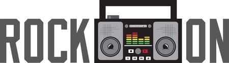 Display your love for retro music with this boombox on a shirt or jacket. Zdjęcie Seryjne - 42759089