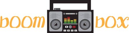 boombox: Display your love for retro music with this boombox on a shirt or jacket.