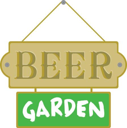 파티를 계획하면 맥주 간판을 보면서 기뻐할 것입니다. 일러스트