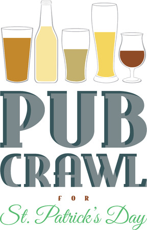 If your in party mood and wants to make new friends then signed up to Pubcrawl 向量圖像