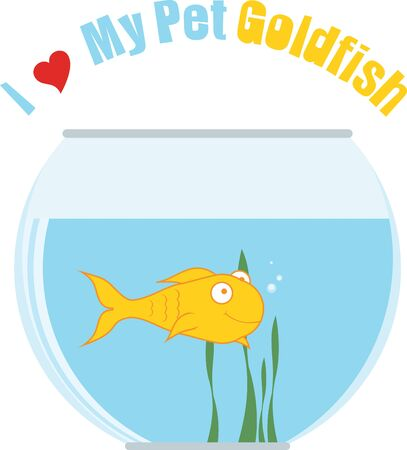 Decorate your home  with colorful  fish bowl. Pick those designs by embroidery patterns. 向量圖像