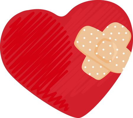 Bandage up the physical damages with this Heart design bandage to lead a healthy lifestyle.