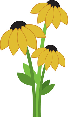 shasta daisy: Gift someone these bunch of Sunflowers and make them happy.  Perfect on towels for the kitchen. Illustration