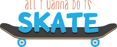 Skate boards are a great outdoor activity for your kids.  Add this image to their gear.