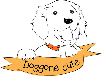 These Cute Puppy design will bring cheer to everyone.  Perfect for a hat or a shirt.