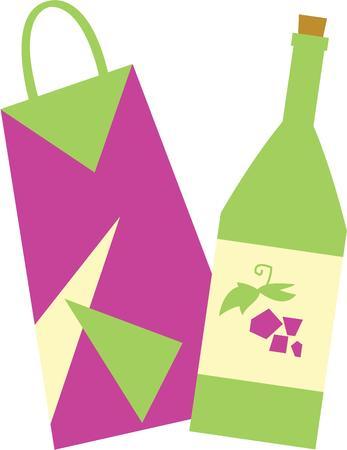 Utilisez cette bouteille-cadeau pour un cadeau pour un ami. Banque d'images - 42760294