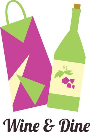 wine and dine: Use this gift bottle for a present for a friend.