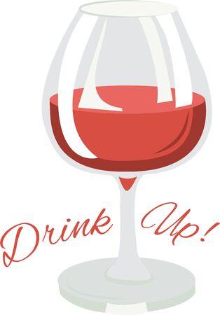 Utilisez ce verre de vin pour un ensemble de serviette pour un minibar. Banque d'images - 42760451