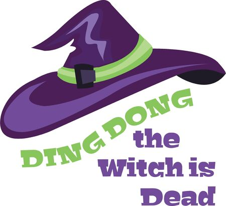 Use this witch hat for a Halloween shirt for a girl. Çizim