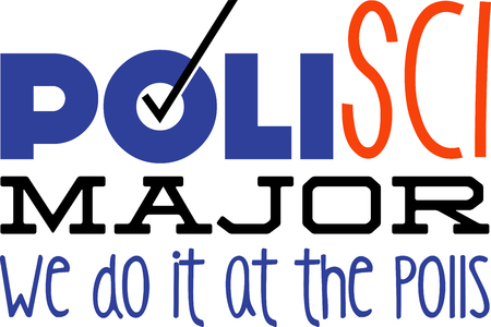 polls: Use this humorous major design for a polisci college student. Illustration