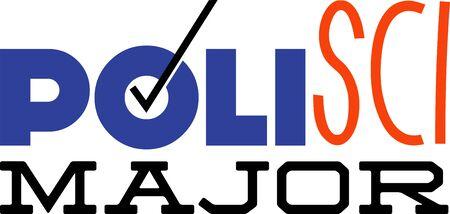 Polisci 大学生のためのこのユーモラスな主要な設計を使用します。 写真素材 - 42760756