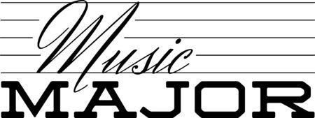 音楽大学生のためのこのユーモラスな主要な設計を使用します。  イラスト・ベクター素材