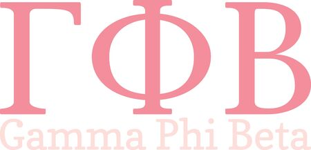 These Greek letters will make a great shirt for a sorority sister. Illusztráció