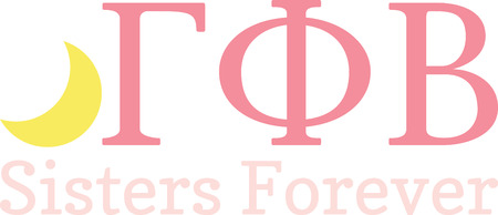 These Greek letters will make a great shirt for a sorority sister. Ilustração