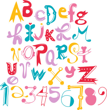 case: Use this fun font for a girls pillow case.