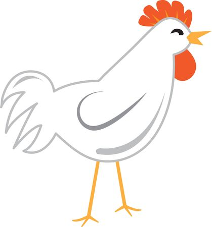 Use this chicken for a kitchen linen or decorative curtain.