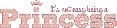 Use this princess design for a little girls shirt. Ilustração