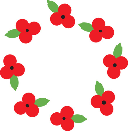 bravery: Use this poppy on the collar of a shirt or blouse to remember the sacrifice and bravery of veterans on Memorial Day and Veterans Day.