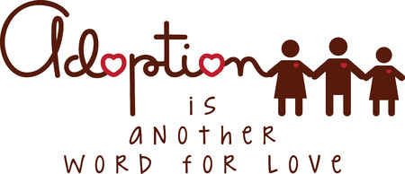 foster: Use this adoption design on a shirt or bag to show your love for your kids.
