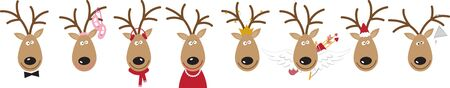 red nosed: Use Santas reindeer for a festive sweater or childs dress.