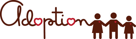 Use this adoption design on a shirt or bag to show your love for your kids.